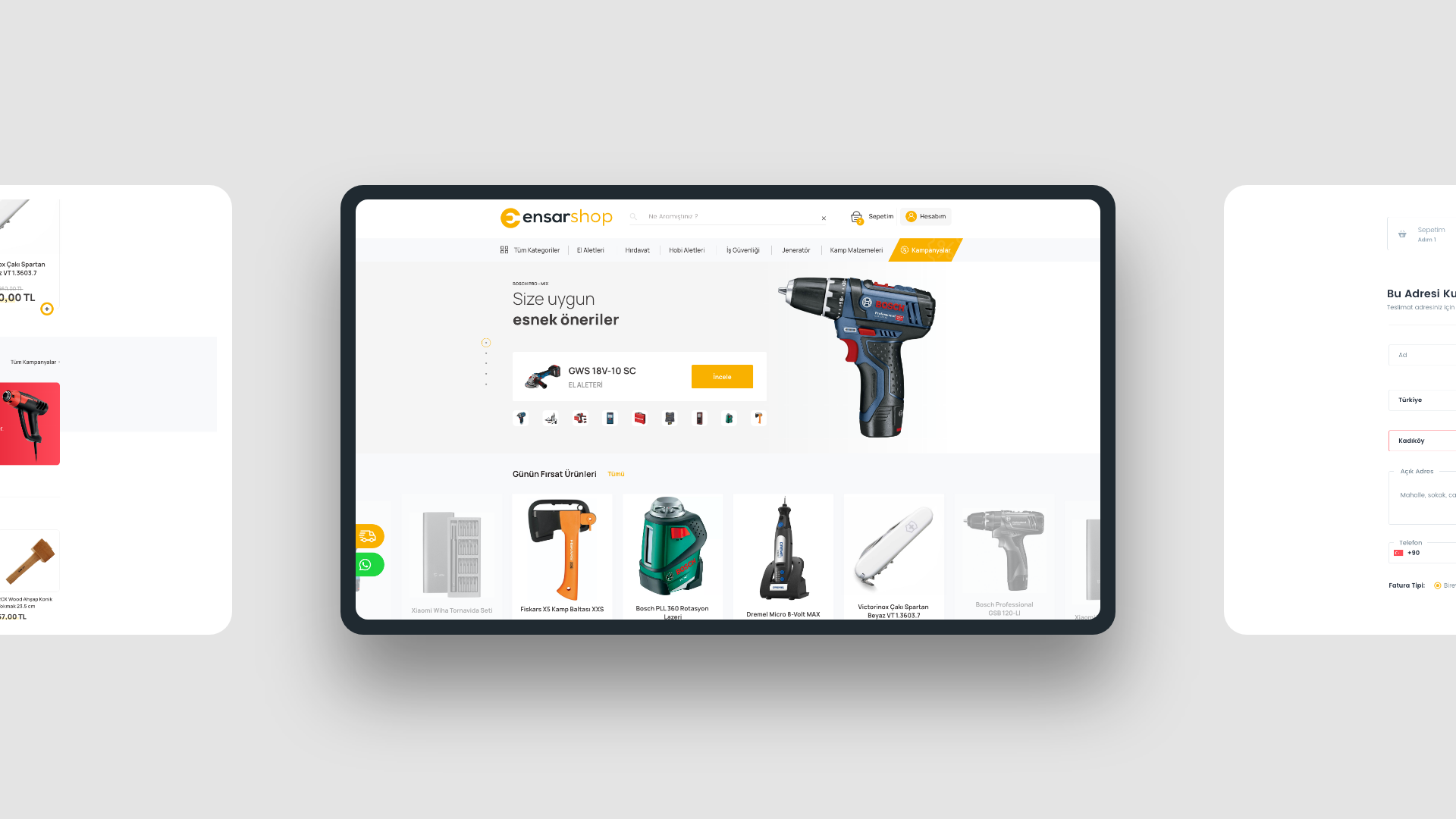 Ensarshop E-commerce Site